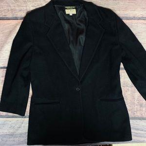 L.L. Bean blazer jacket women's 10 R black wool